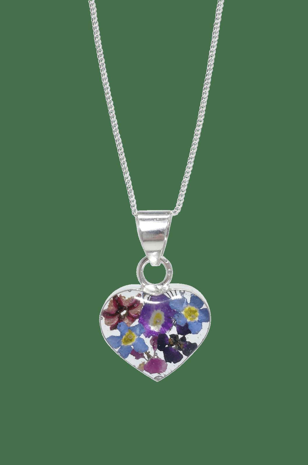 PURPLE HAZE NECKLACE – HEART – STERLING SILVER Funky FlowerJewellery