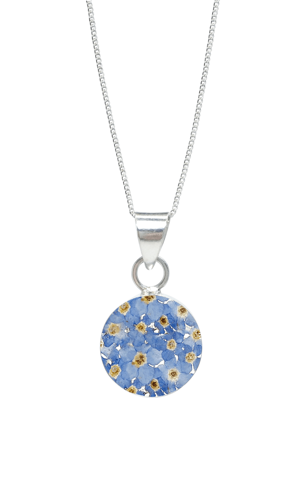 FORGET ME NOT Necklace – Medium Round – Funky FlowerJewellery